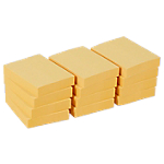 12 blocs de notes repositionnables   Office DEPOT   38 x 51 mm   jaune   FSC