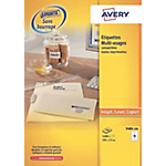 1600 Etiquettes multifonctions   Avery   105 x 37 mm
