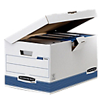 Container pour boites archives Fellowes Flip Top Maxi 31 (H) x 39 (l) x 31 (P) cm 100% carton recyclé Blanc   Couleur : Blanc