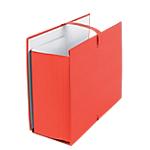 Chemises extensibles avec rabat Office Depot Carton fort habillage papier toilé Rouge