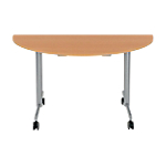 Table de réunion abattante Sodematub 140 x 70 x 74 cm Hêtre