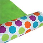 Papier cadeau réversible Papier  50m (L) x 70cm (l) Vert