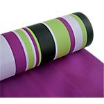 Papier cadeau réversible  50m (L) x 700mm (l) Rayé vert,  lilas