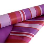 Papier cadeau réversible  50m (L) x 700mm (l) Rayé rouge,  lilas