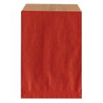 Pochettes cadeaux Kraft brun vergé  27cm (H) x 16cm (l) Rouge   250