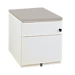 Caisson mobile   Gautier Office   Gamme Sunday   2 tiroirs   top gris