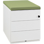 Caisson mobile   Gautier Office   Gamme Sunday   3 tiroirs   top kiwi en tissu