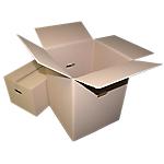 Caisses de déménagemen  300 (H) x 350 (l) x 275 (P) mm Marron   10