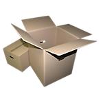 Caisse de déménagement  300 (H) x 550 (l) x 350 (P) mm Marron   10