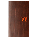 Semainier Brepols Interplan Moose 2018 1 Semaine sur 2 pages 16 (H) x 9 (l) cm Marron
