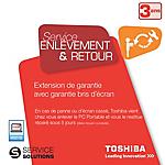 Extension de Garantie Toshiba 3 ans avec Enlevement & Retour et Garantie bris d'écran