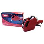 Pince pour étiquettes en rouleau APLI 1 ligne Rouge