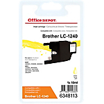 Cartouche jet d'encre Office Depot Compatible Brother LC1240Y Jaune