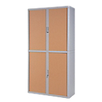 Armoire Paperflow easyOffice 2 040mm (H) x 1 100mm (l) x 204cm (H) Gris, Imitation Hêtre