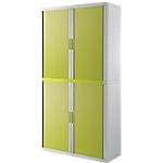 Armoire portes à rideaux   H. 204 x L. 110 cm   Paperflow   easyOFFICE   décor couleur vert