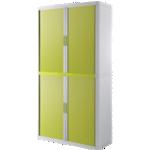 Armoire portes à rideaux - H. 204 x L. 110 cm - Paperflow - easyOFFICE - décor couleur vert