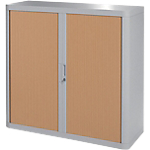 Armoire Paperflow easyOffice 1 040mm (H) x 1 100mm (l) x 104cm (H) Gris, Imitation Hêtre