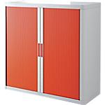 Armoire portes à rideaux   H. 104 x L. 110 cm   Paperflow   easyOFFICE   décor couleur rouge
