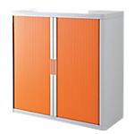Armoire portes à rideaux   H. 104 x L. 110 cm   Paperflow   easyOFFICE   décor couleur orange
