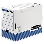 6 boîtes archives   Fellowes   dos 20 cm   blanc & bleu
