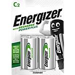 Piles rechargeables Energizer Power Plus C 2 Piles