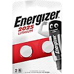 Pile bouton Energizer Lithium CR2025 2