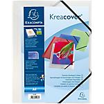 Chemise 3 rabats à élastique Exacompta A4 Krea Cover Polypropylène Transparent
