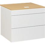 Plan d'accueil bas Gautier Office SUNDAY Accueil 80 (L) x 74 (P) x 74 (H) cm Blanc, Imitation Chêne