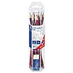 12 Crayons graphite   Staedtler + Mini gomme offerte