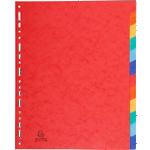 Intercalaires carte lustrée Exacompta 12 onglets