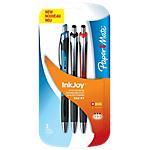 3 stylos bille   Papermate   Inkjoy 550   Rétractable   Coloris assortis
