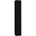 Vestiaire de bureau monobloc EVP 1 cases 30 (L) x 50 (l) x 180 (H) cm Noir