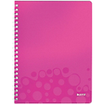 Cahier Leitz A4 WOW Double spirale 160 Pages Rose