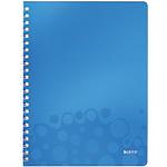 Cahier double spirale Leitz A4 WOW Ligné 160 Pages Bleu