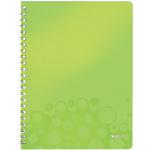 Cahier double spirale Leitz A4 WOW Ligné Vert 160 Pages Vert