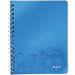 Cahier à double spirale Leitz A5 WOW 160 Pages Bleu