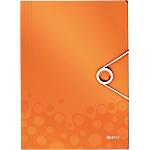 Chemise 3 rabats à élastique Leitz WOW 8 mm Orange
