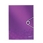 Chemise 3 rabats à élastique Leitz WOW A4 Violet