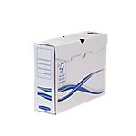 Boîtes d'archives A4 Fellowes 100 mm 25,5 (H) x 8 (l) cm Blanc et bleu   10