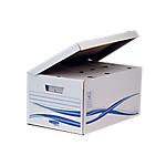 Maxi container + 6 boîtes d'archives Fellowes 80 mm 25,5 (H) x 52,6 (l) cm Blanc et bleu