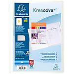 Protège documents soudé Exacompta Krea Cover Polypro 30 A4 Blanc