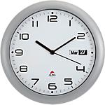 Horloge murale avec dateur Alba 30cm Gris