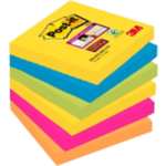 Notes adhésives Post it 127 x 76 mm - 6x 90 feuilles
