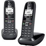 Téléphone fixe Gigaset AS405 Duo Noir