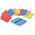 Dévidoir pour Z Notes Post it Super Sticky Bora Bora 76 (H)  x  76 (l) mm 90   1 dévidoir + 8 Z Notes