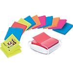 Dévidoir Z notes pro Post it Super Sticky Bangkok + Bora Bora 76 (H)  x  76 (l) mm 90 70 g
