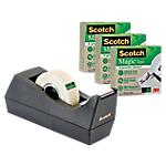 Dévidoir et ruban adhésif Scotch 19mm (l) x 33m (L) C38 Noir   4