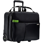 Trolley PC Portable Polyester, Cuir Leitz Smart traveller Noir