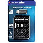 Disque dur externe + Clé USB 2.5 Verbatim Store 'n' Go Combo Noir