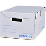 Container pour boites archives Niceday 25,5 (H) x 54,5 (l) cm Blanc   Dimensions : (H x l x L) en cm : 25,5 x 54,5 x 35,4.